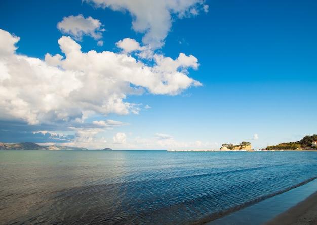 Praia, ilha de zakynthos, grécia, feliz verão