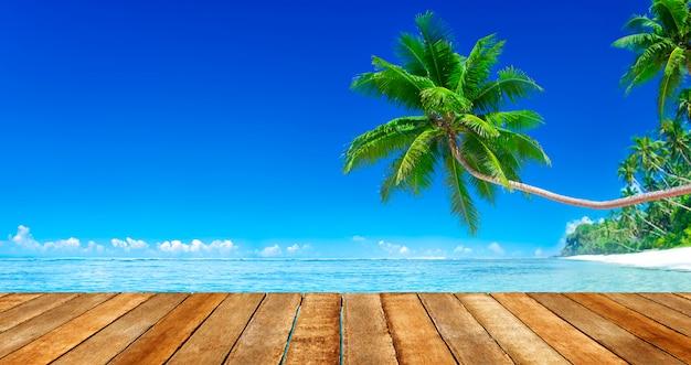 Praia paradisíaca tropical