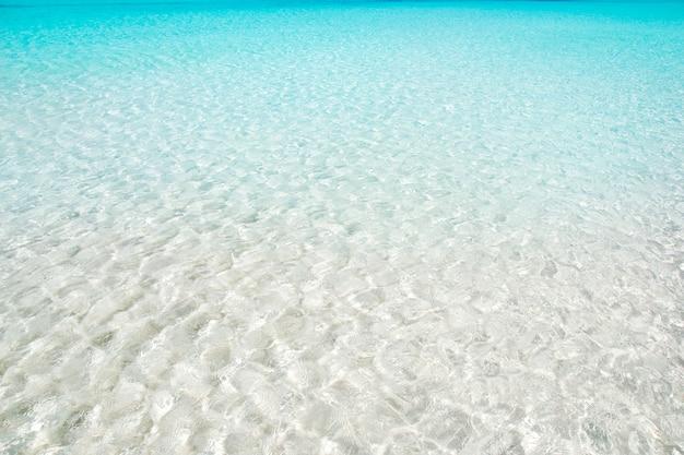 Praia perfeita areia branca turquesa água