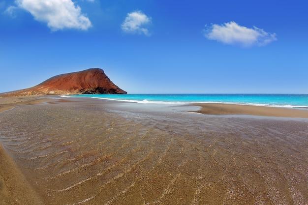 Praia playa de la tejita em tenerife