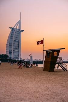 Praia pública em jumeirah, dubai