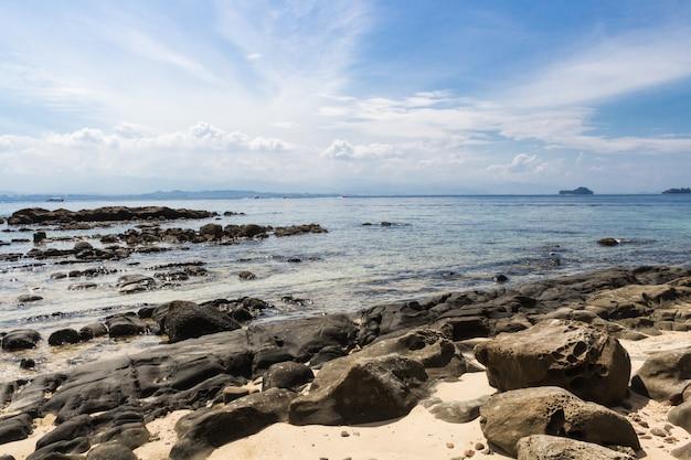 Praia tropical arenosa