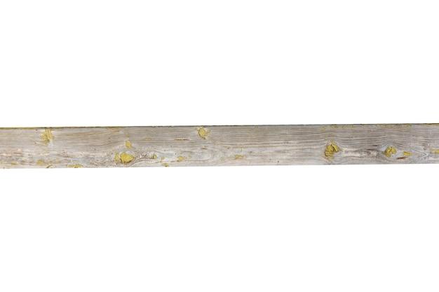 Prancha de madeira horizontal isolada no fundo branco. foto de alta qualidade