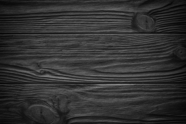 Prancha de madeira preta, mesa, superfície do piso ou cortar, textura de madeira escura