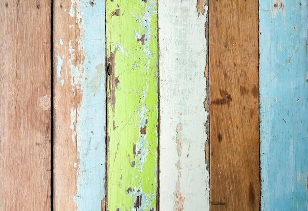 Prancha de madeira vintage vista superior