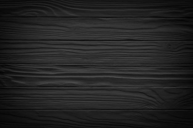 Prancha velha da textura do preto do fundo de madeira vintage. superfície de madeira escura