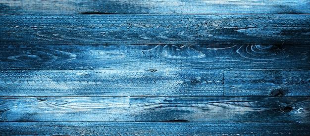 Pranchas de madeira azuis escuras naturais