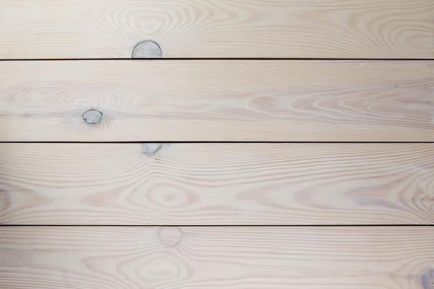 Pranchas de madeira de pinho pintada de branco com nós. textura de madeira.