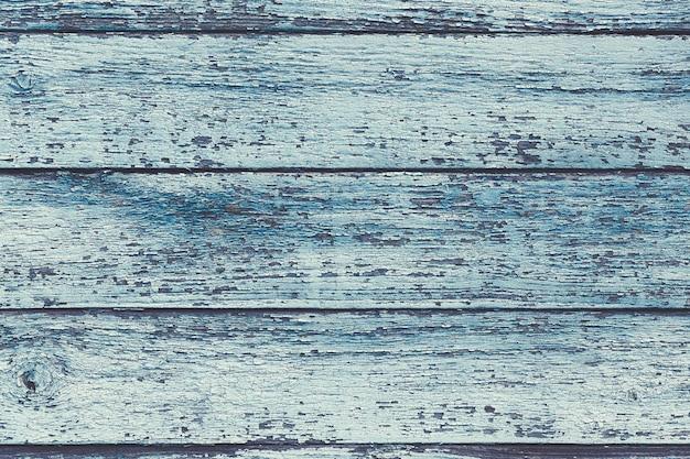 Pranchas de madeira gasto azuis velhas