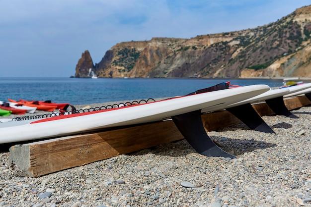 Pranchas de surf na praia.