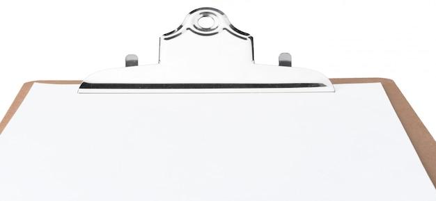 Prancheta branca em branco como pano de fundo