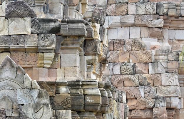 Prasat sadok kok thom, templo na província de sa kaeo, tailândia.