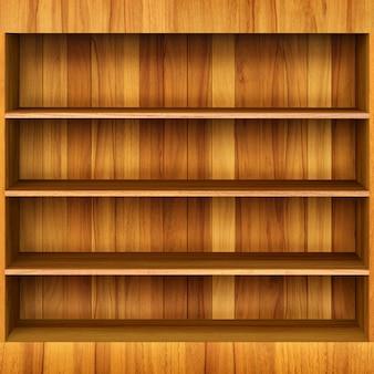Prateleira de livro 3d de madeira