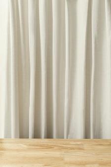 Prateleira de pano de fundo para produtos de cortina