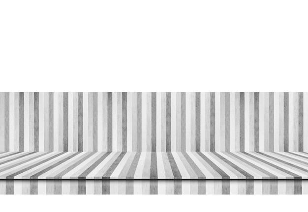 Prateleira rústica da madeira da prancha do vintage preto e branco.