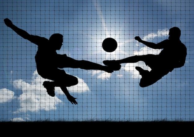 Praticando experiência de futebol focada técnico