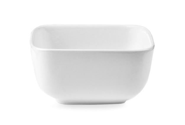 Prato branco em fundo branco