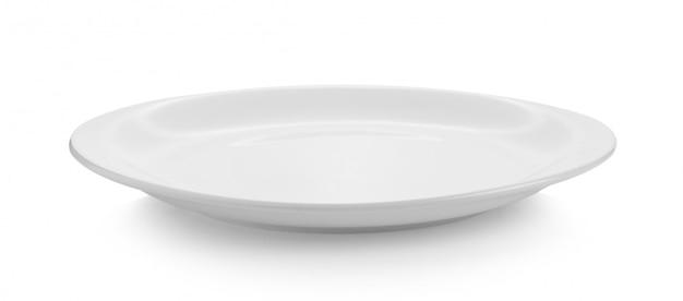 Prato branco na superfície branca