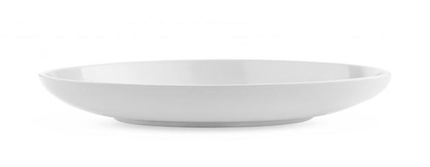 Prato branco vazio em branco