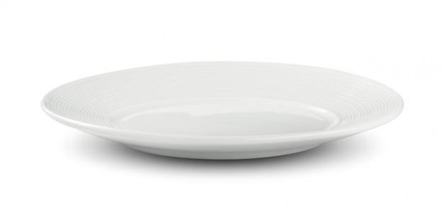 Prato branco vazio no espaço em branco