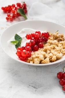 Prato com conceito de comida saudável