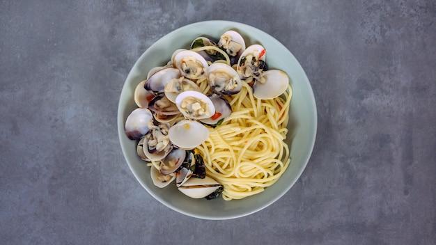 Prato de frutos do mar de moluscos
