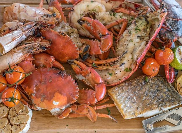 Prato de frutos do mar