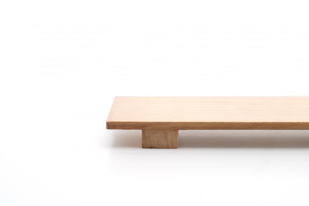 Prato de sushi de madeira japonesa