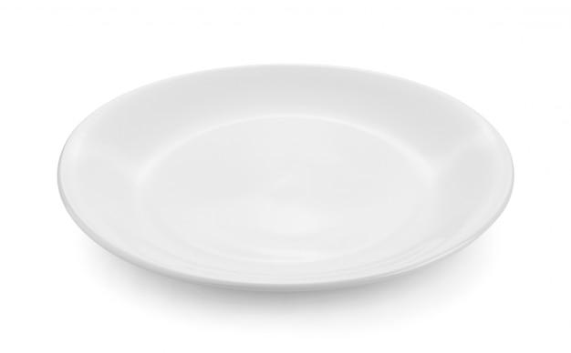 Prato vazio isolado na superfície branca