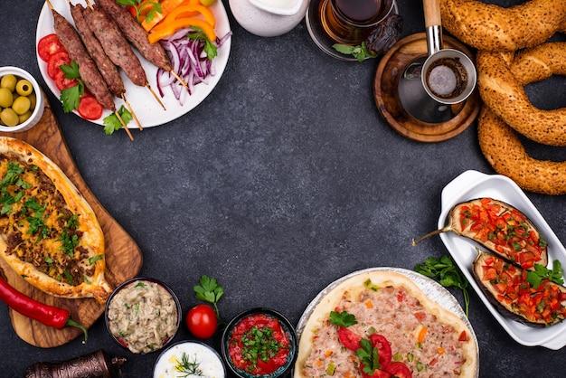 Pratos tradicionais turcos ou do oriente médio