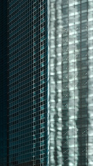 Prédios de apartamentos e escritórios modernos à luz do dia