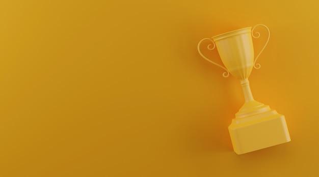 Prêmio troféu com espaço de cópia.