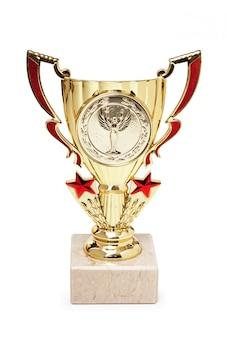 Prêmios de esportes isolados em um fundo branco
