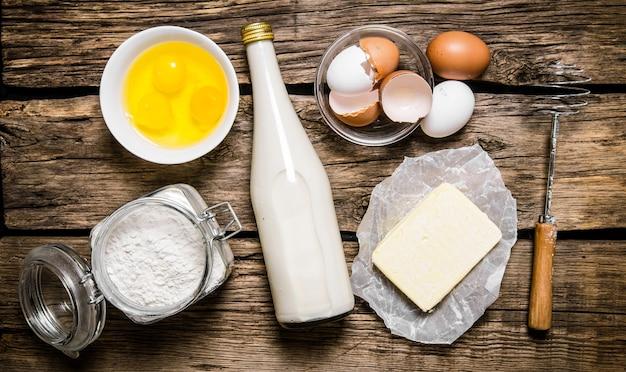 Preparação da massa ingredientes para a massa
