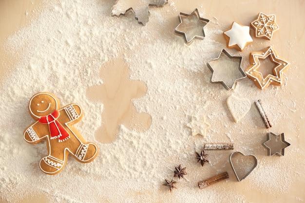 Preparação de biscoitos de natal