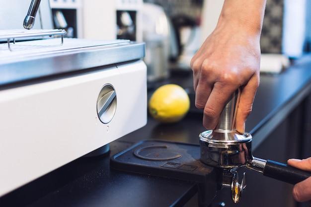 Preparação de café expresso