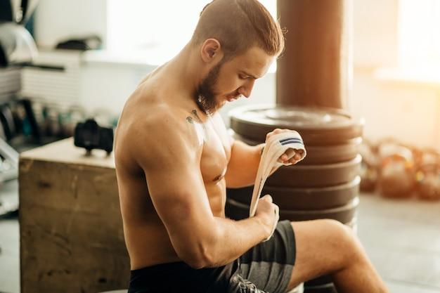 Preparação de fitness homem