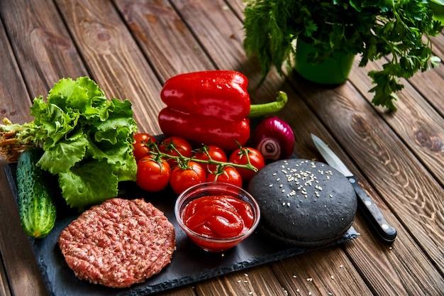 Preparação de hambúrguer