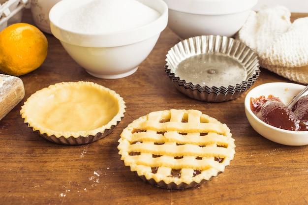 Preparação de massa de torta