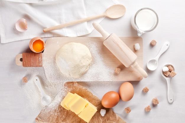 Preparação de massa para cozinhar padaria