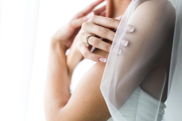 Preparação de noiva adorável