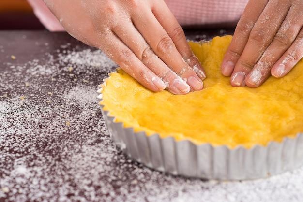 Preparação do bolo