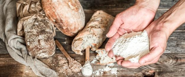 Preparação do pão