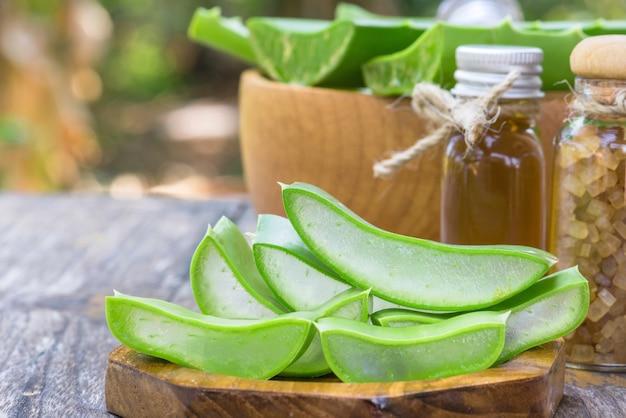Preparado aloe vera uso no spa para skincare e cosméticos