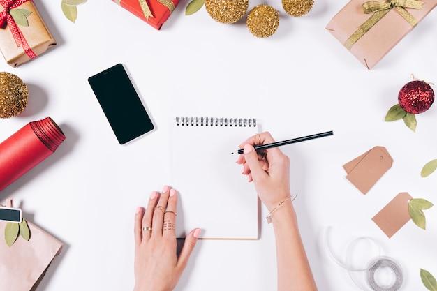 Preparando-se para férias e escrevendo uma lista