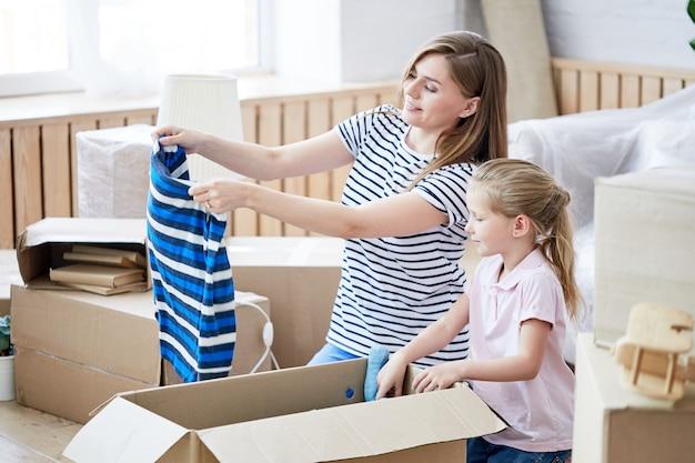 Preparativos para a mudança para um novo apartamento
