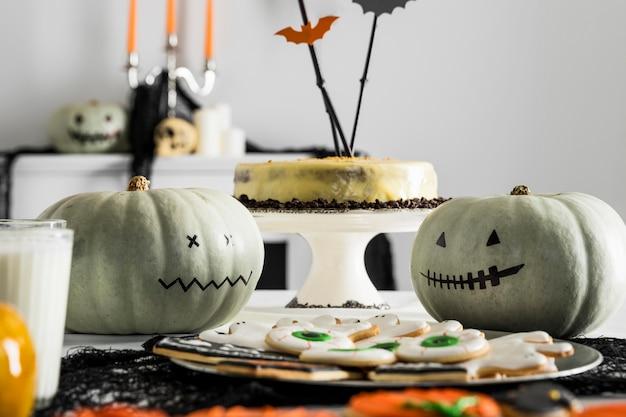 Preparativos para festas de halloween