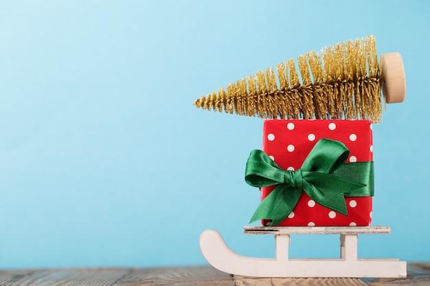 Presente composto e decoração de natal