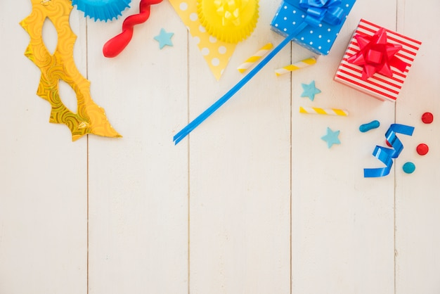 Presente de aniversário colorido
