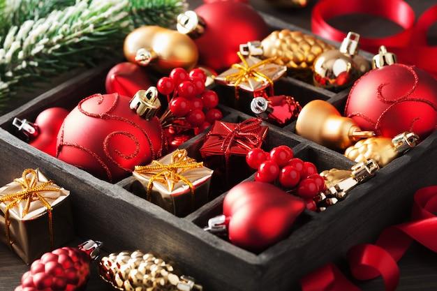 Presente de natal e decoração em caixa de madeira